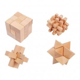 Súprava 4 drevených hlavolamov