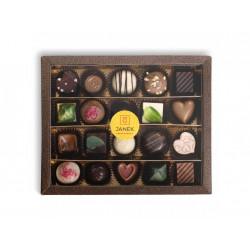 Darčeková kazeta čokoládových praliniek a lanýžiek