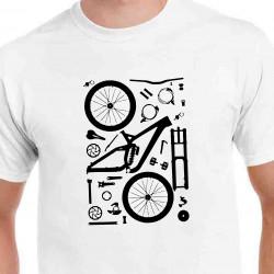 Tričko Cyklo súčiastky