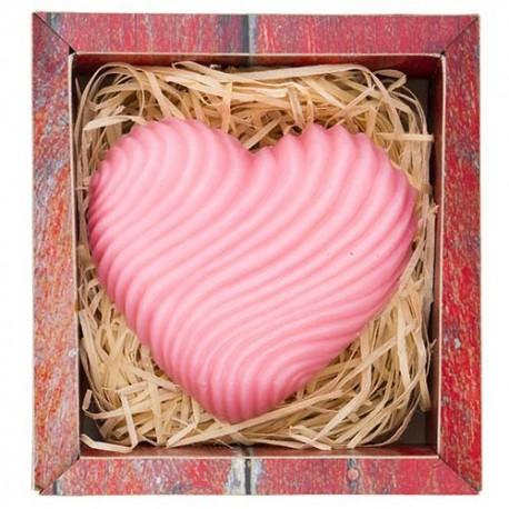 Ručne vyrábané mydlo v tvare srdca