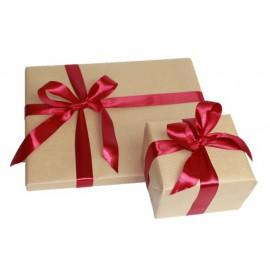 Kraftový baliaci papier s luxusnou stuhou (zabalený 1 kus tovaru)