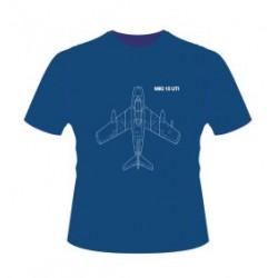 Originálne tričko so siluetou legendárnej stíhačky MIG-15