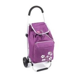 Designová nákupní taška na kolečkách Malaga - fiálová