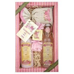 Darčekové balenie gél + šampón + soľ ruža