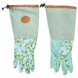 Záhradné rukavice s ružičkami