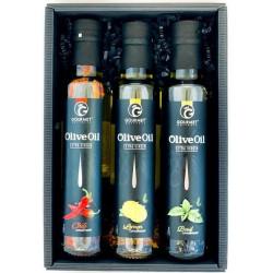 Triáda olivových olejov s príchuťou